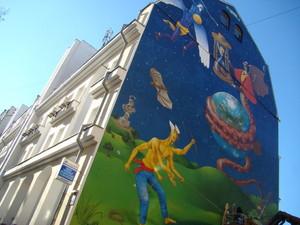 Мурал на одном из киевских домов