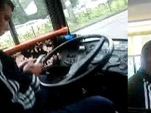 Один из водителей, отказавшийся предоставлять льготу на проезд бойцу АТО. Фото из Facebook Ольги Сницарчук
