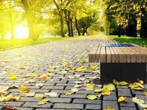 Так будет выглядеть скамейка с подогревом. Фото из Facebook Дениса Пивнева