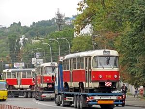 трамваи из Праги в Киеве