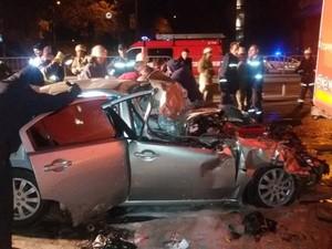 дтп с пожаром и пострадавшими в Киеве