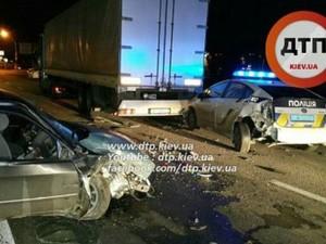 авария с участием полиции на окружной