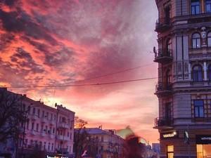 закат над киевом