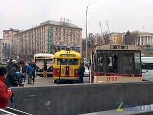 исторические троллейбусы киев
