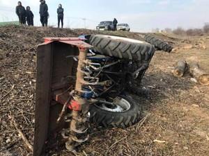 Водитель мини-трактора не справился с управлением