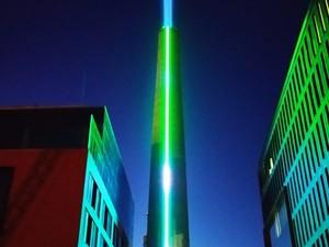 Самая высокая заводская труба стала световой инсталляцией